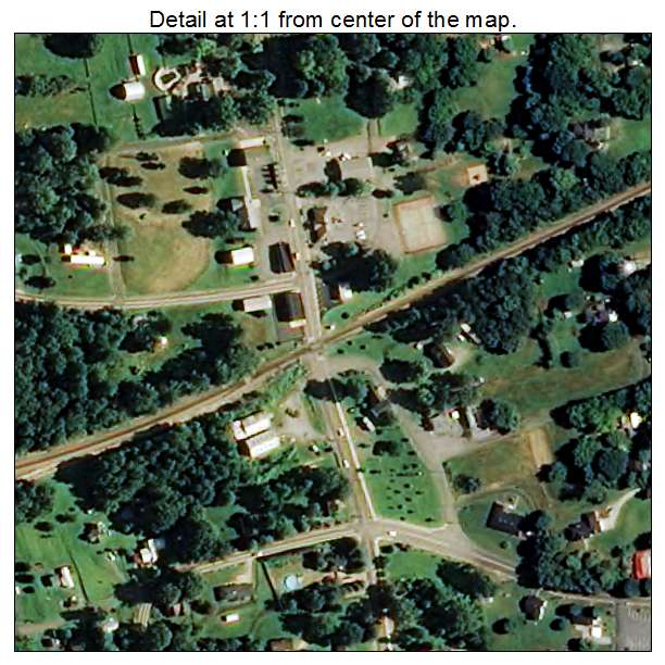 Bostic, North Carolina aerial imagery detail