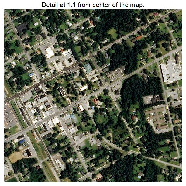Burgaw, North Carolina aerial imagery detail