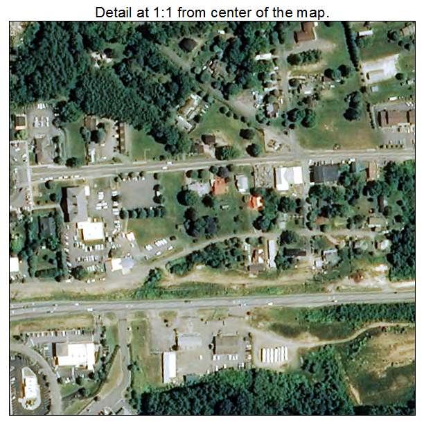 Burnsville, North Carolina aerial imagery detail