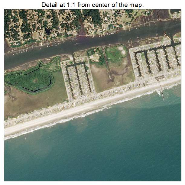Holden Beach, North Carolina aerial imagery detail
