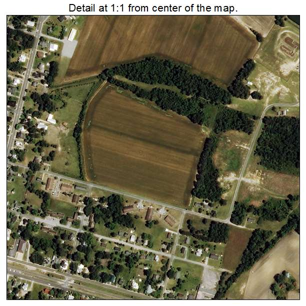 La Grange, North Carolina aerial imagery detail