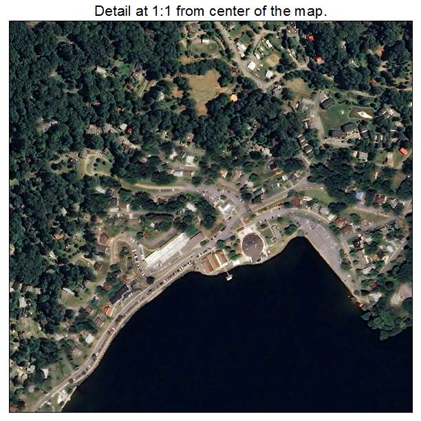 Lake Junaluska, North Carolina aerial imagery detail