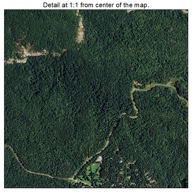Lake Lure, North Carolina aerial imagery detail
