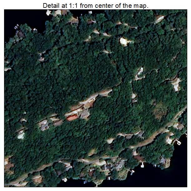 Lake Santeetlah, North Carolina aerial imagery detail