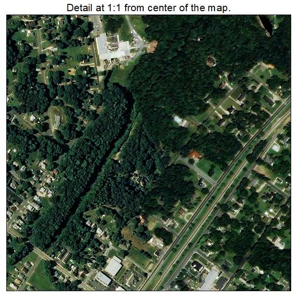 Landis, North Carolina aerial imagery detail