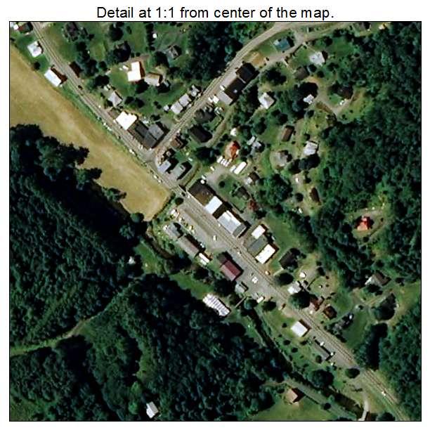 Lansing, North Carolina aerial imagery detail