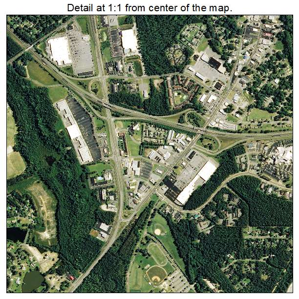 Laurinburg, North Carolina aerial imagery detail