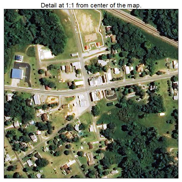 Lilesville, North Carolina aerial imagery detail