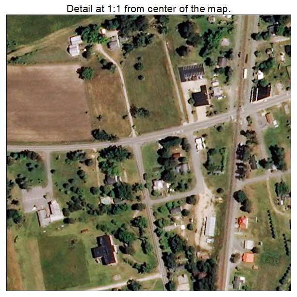 Linden, North Carolina aerial imagery detail