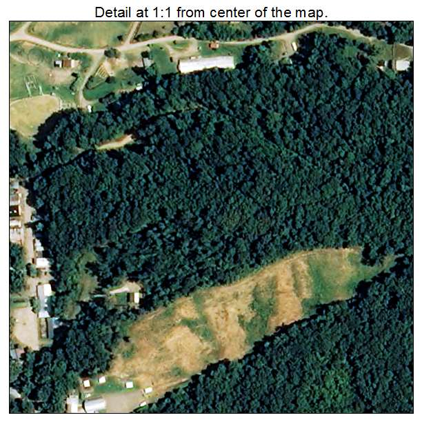 Love Valley, North Carolina aerial imagery detail