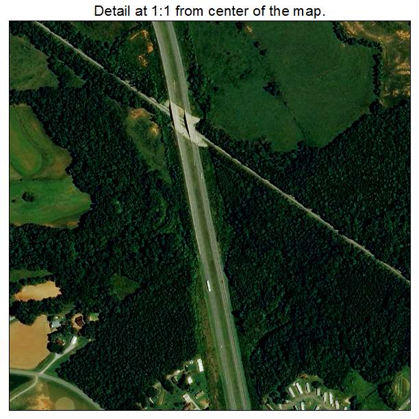 Lowesville, North Carolina aerial imagery detail
