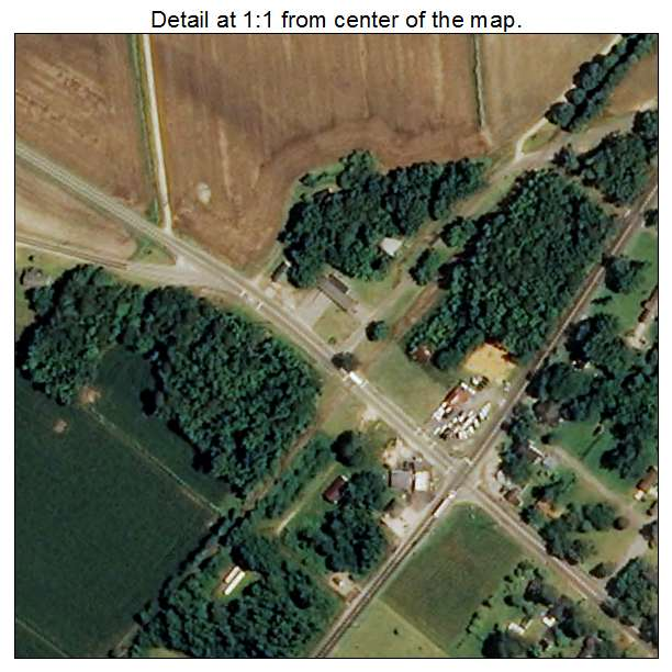 Lumber Bridge, North Carolina aerial imagery detail