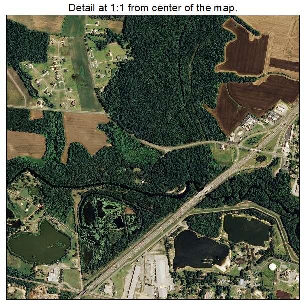 Lumberton, North Carolina aerial imagery detail