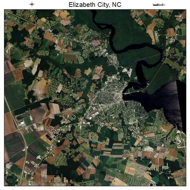 Aerial Photography Map Of Elizabeth City, NC North Carolina