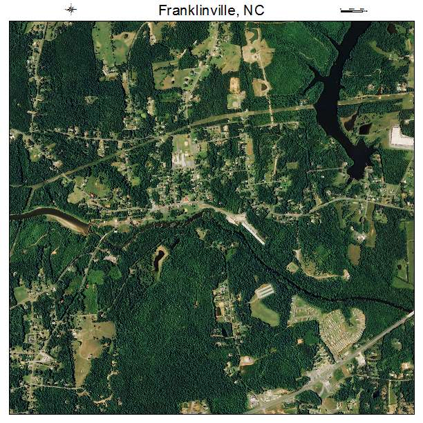 Franklinville, NC air photo map