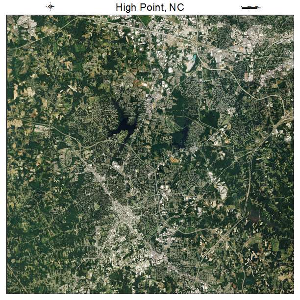 Aerial Photography Map Of High Point NC North Carolina