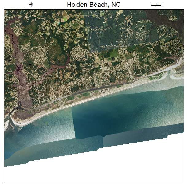 Holden Beach, NC air photo map