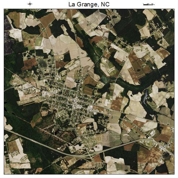 La Grange, NC air photo map