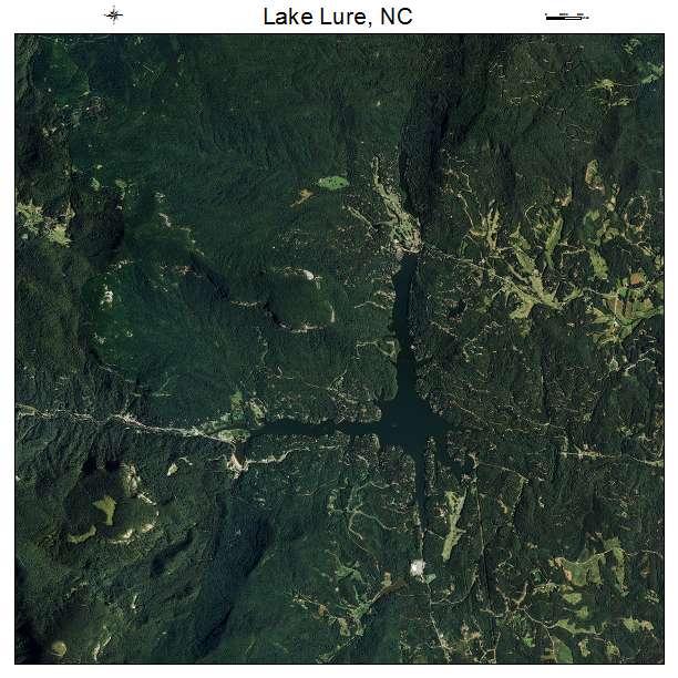Lake Lure, NC air photo map