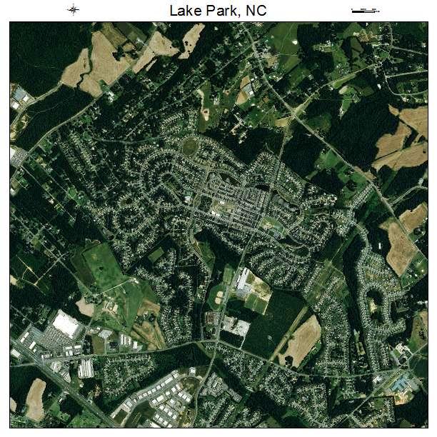 Lake Park, NC air photo map