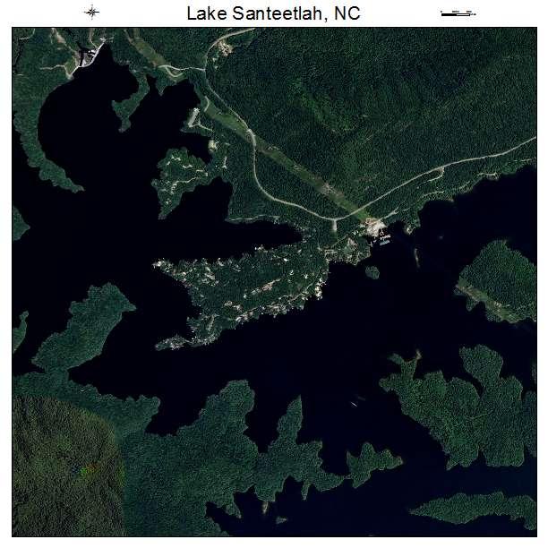 Lake Santeetlah, NC air photo map