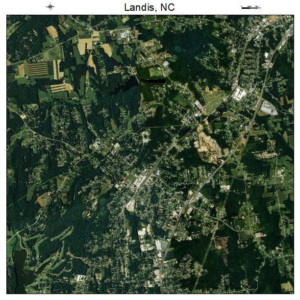 Landis, NC air photo map