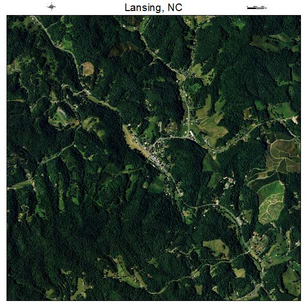 Lansing, NC air photo map