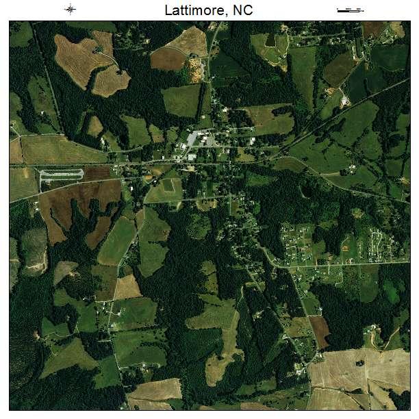 Lattimore, NC air photo map