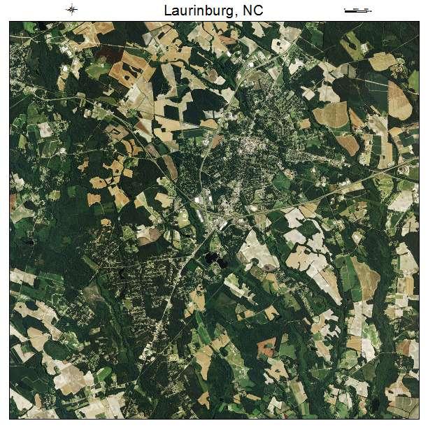 Laurinburg, NC air photo map