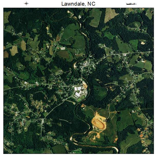 Lawndale, NC air photo map