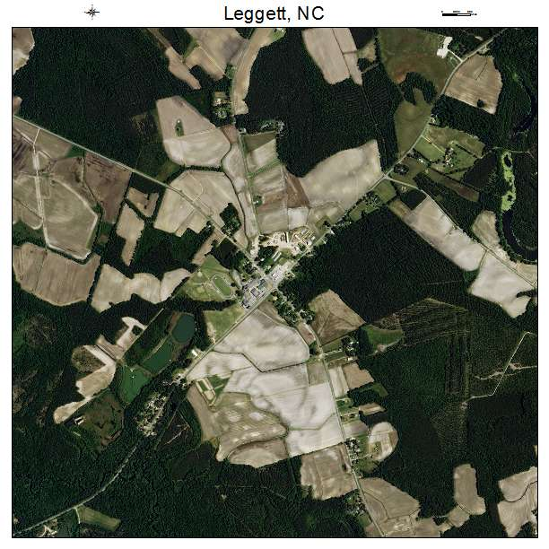 Leggett, NC air photo map