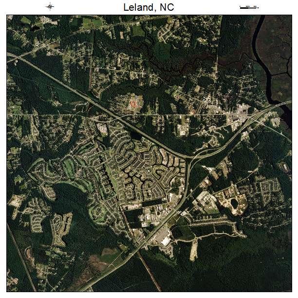 Leland, NC air photo map