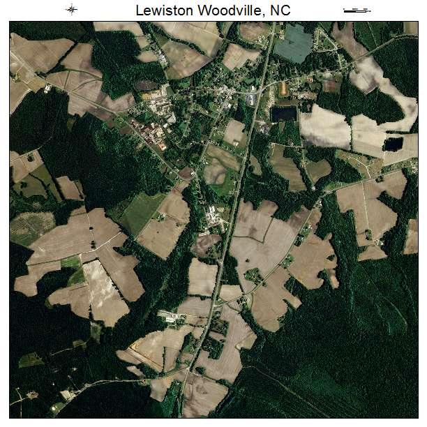 Lewiston Woodville, NC air photo map