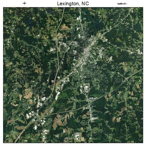 Lexington, NC air photo map