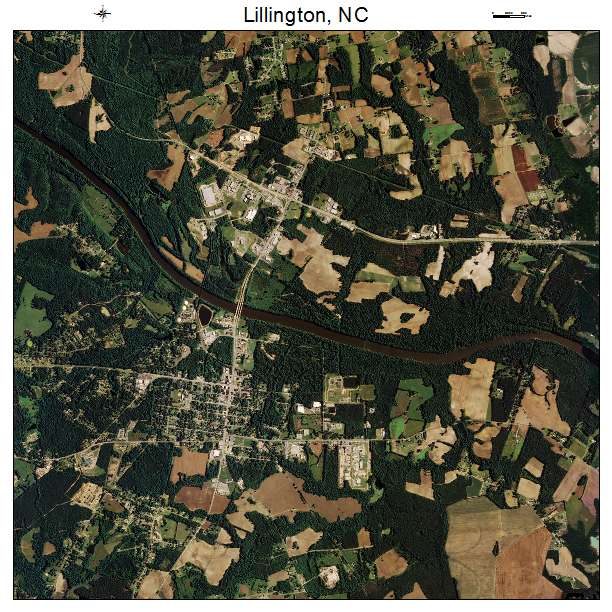 Lillington, NC air photo map