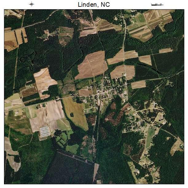 Linden, NC air photo map