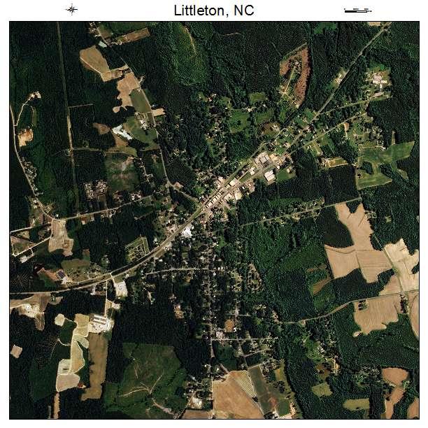 Littleton, NC air photo map
