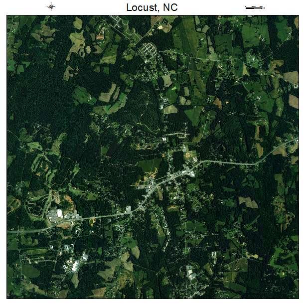 Locust, NC air photo map