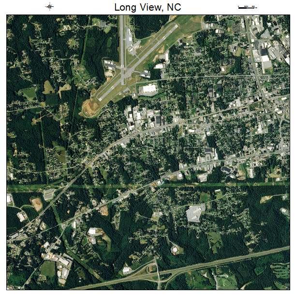 Long View, NC air photo map
