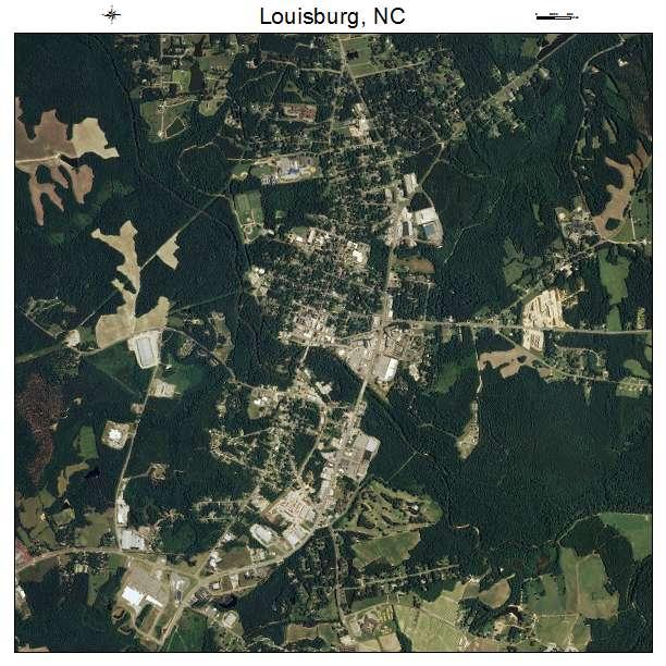 Louisburg, NC air photo map