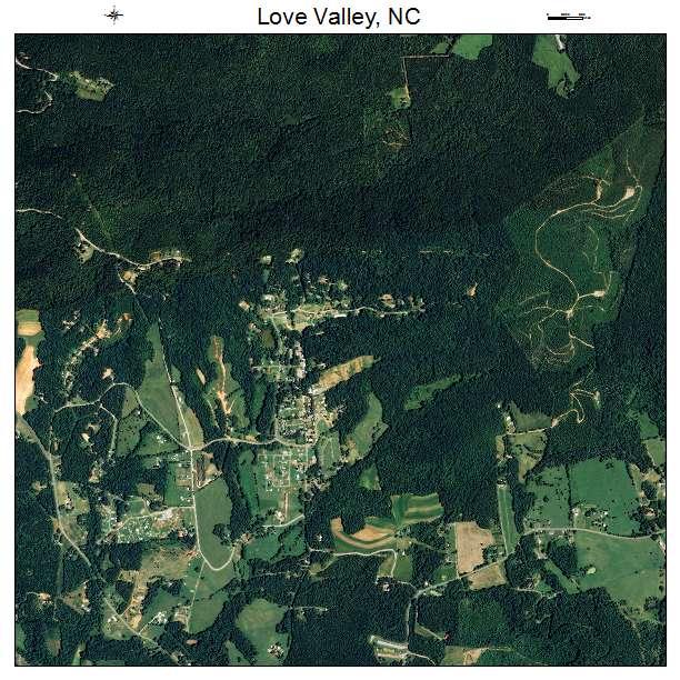 Love Valley, NC air photo map