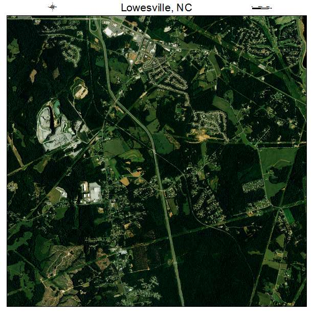 Lowesville, NC air photo map
