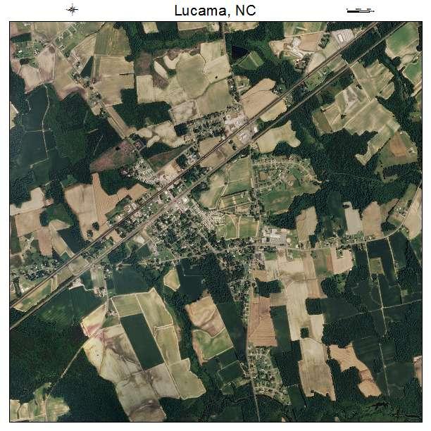 Lucama, NC air photo map