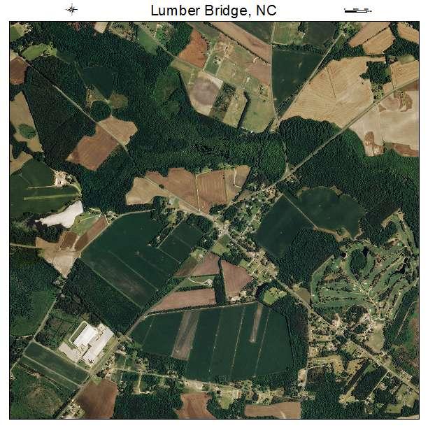 Lumber Bridge, NC air photo map