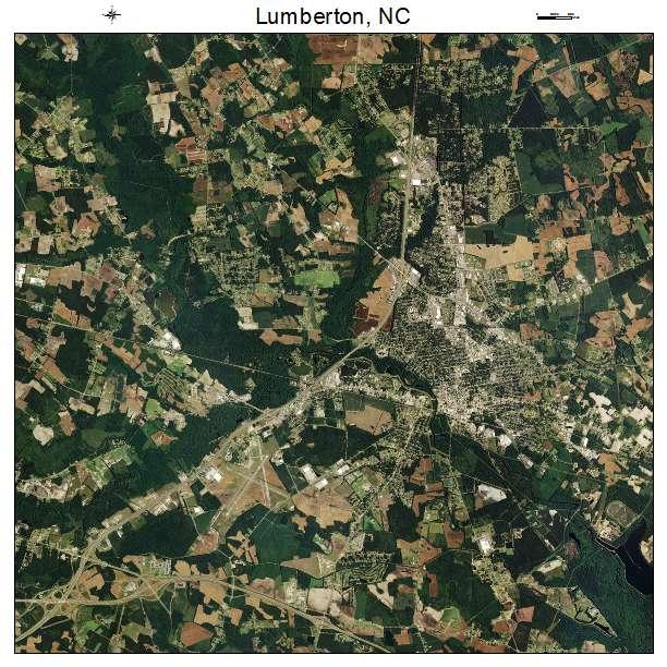 Lumberton, NC air photo map