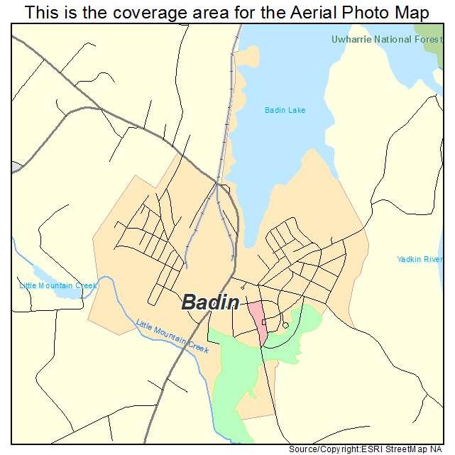 Badin, NC location map