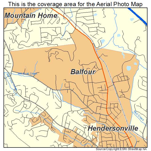 Balfour, NC location map