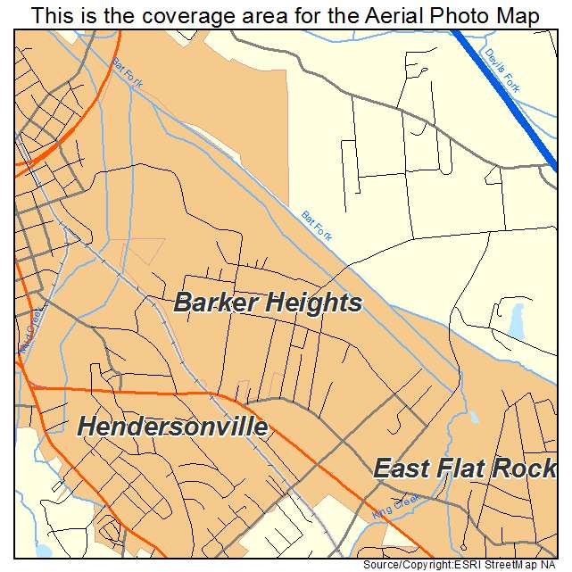 Barker Heights, NC location map