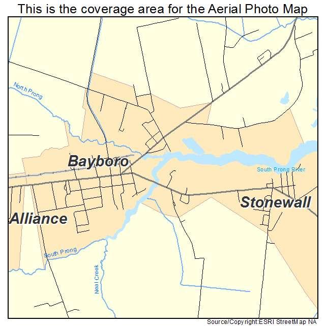 Bayboro, NC location map