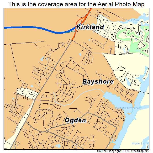 Bayshore, NC location map